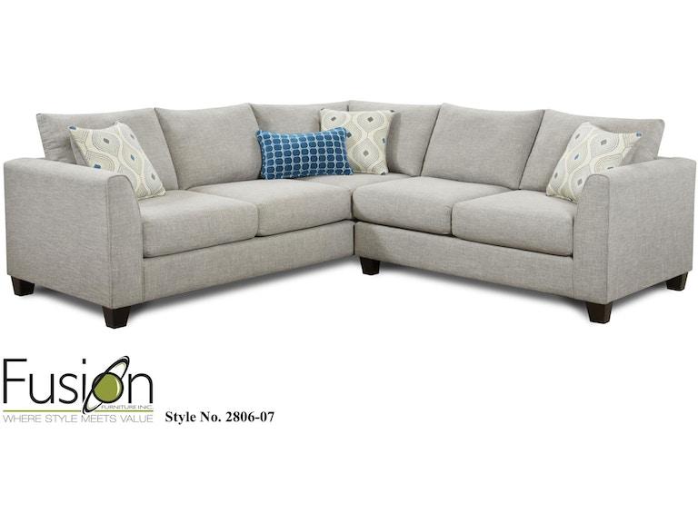 Fusion Living Room LAF Sectional 2807Paradigm Quartz At Kaplans Furniture