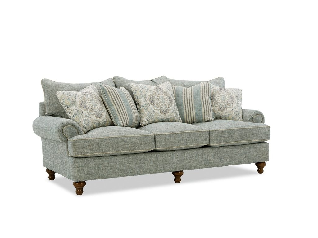 Paula Deen Living Room Furniture Collection Paula Deen By Craftmaster Living Room Three Cushion Sofa P711750bd