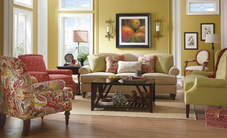 paula deencraftmaster living room sofa p736550bd - craftmaster