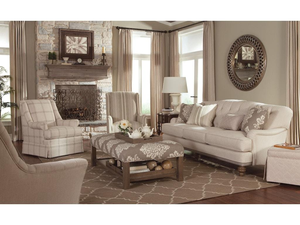 Paula Deen by Craftmaster Living Room Sofas P744950BD ...