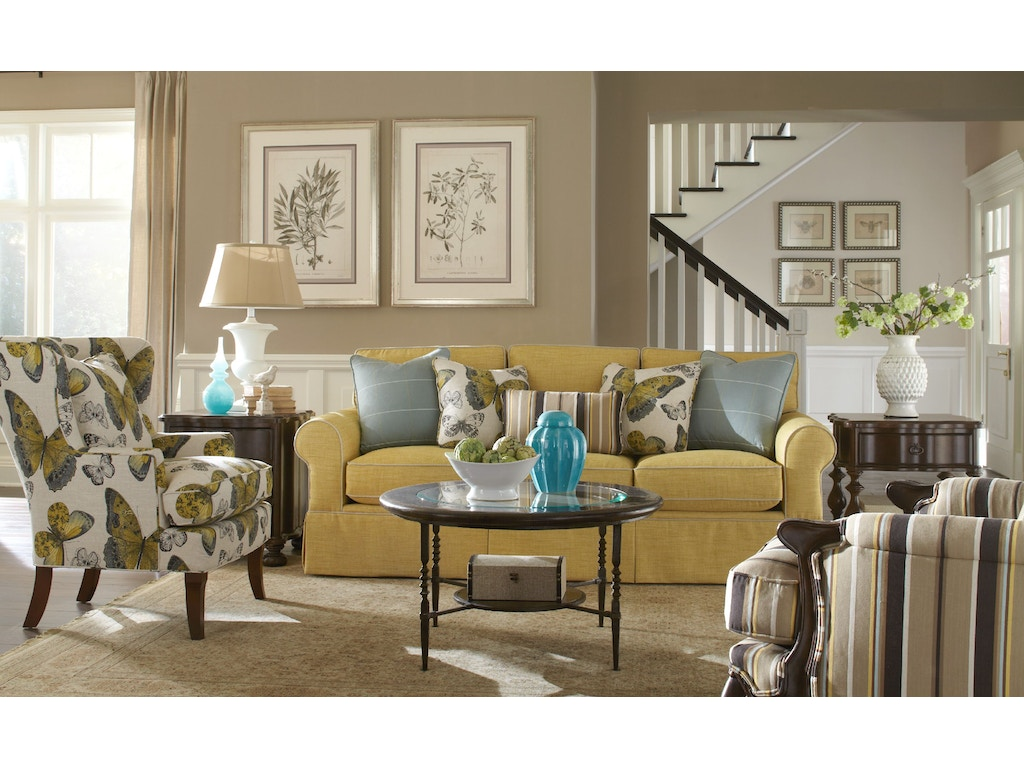 Paula Deen Living Room Furniture Collection Paula Deen By Craftmaster Living Room Three Cushion Sofa P992050