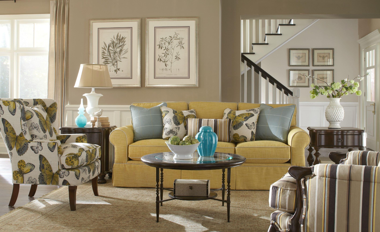 ... Paula Deen By Craftmaster Three Cushion Sofa P992050 68BD Sleeper