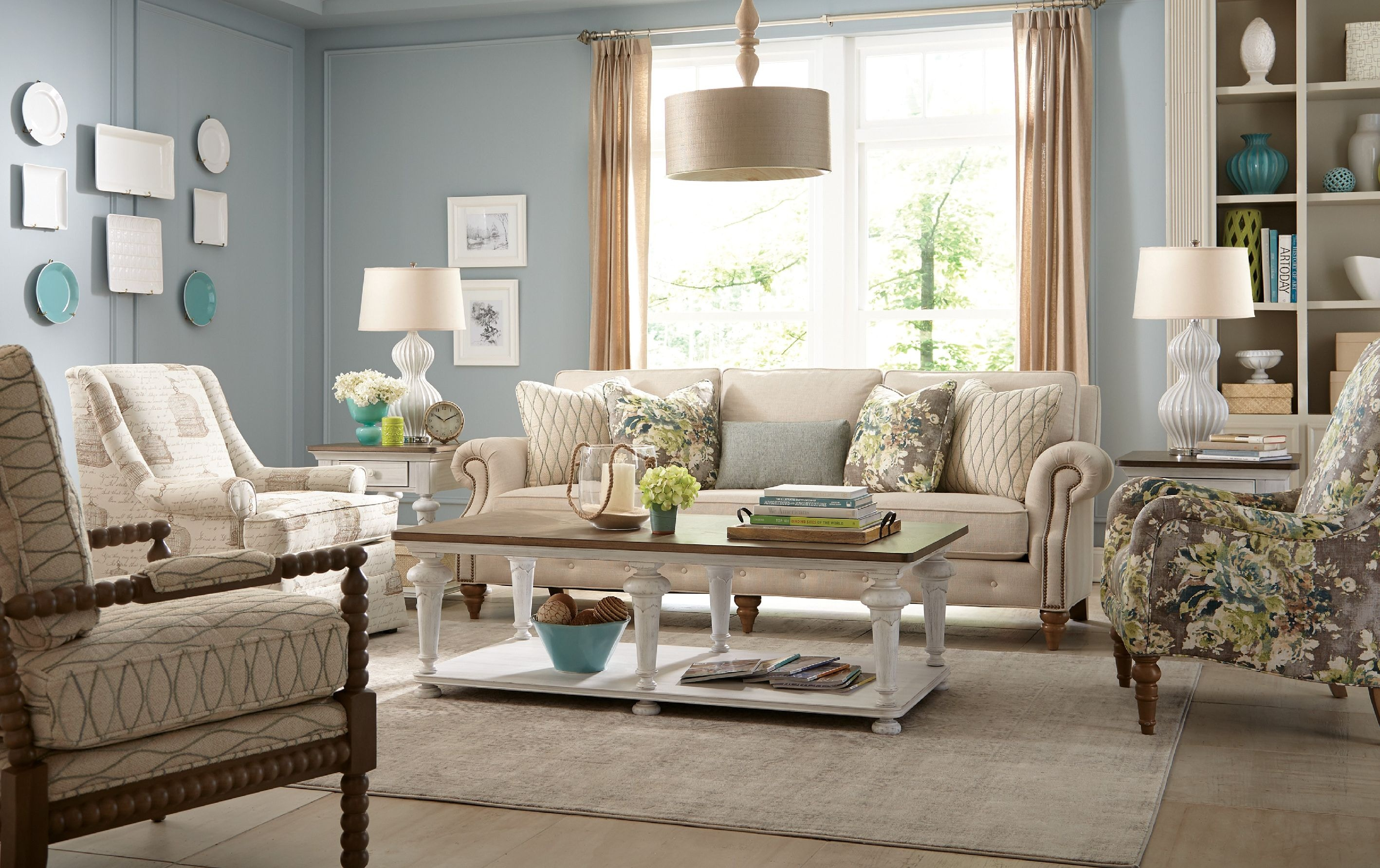 Paula deen by craftmaster living room sofa p763250bd craftmaster hiddenite nc for Paula deen living room furniture