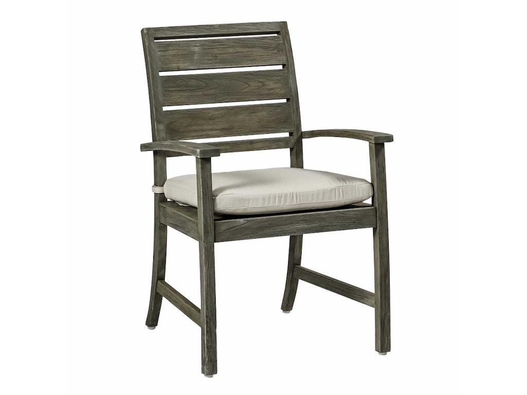 Summer Classics Outdoor Patio Charleston Teak Arm Chair