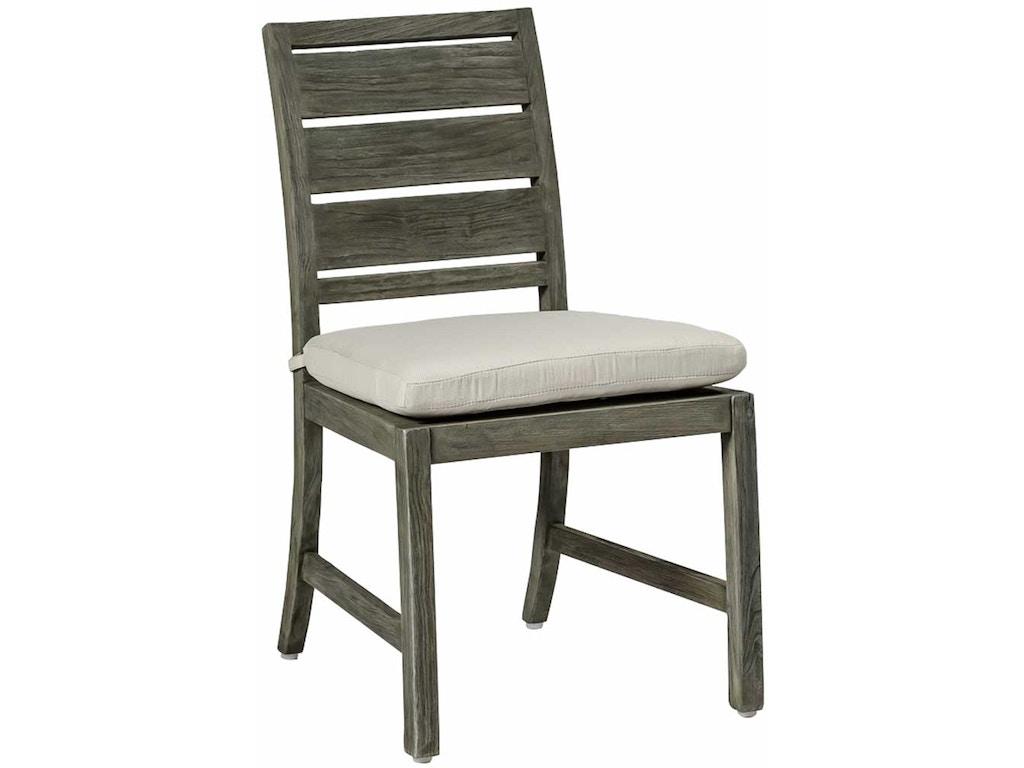 Summer classics outdoor patio charleston teak side chair for Outdoor furniture kansas city