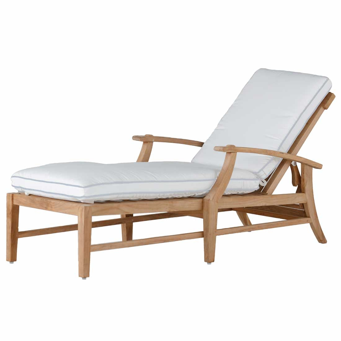 Summer Classics Outdoor Patio Croquet Teak Chaise Zing Casual Living