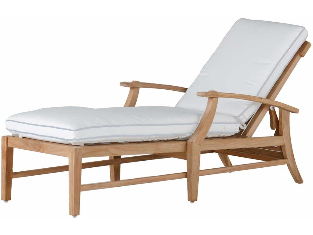 Summer classics 28234 croquet teak chaise interiors for Chaise interiors