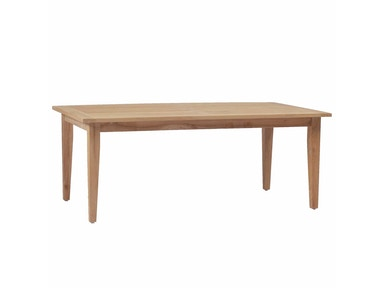 Summer Classics Croquet Teak Rectangular Farm Table 28424