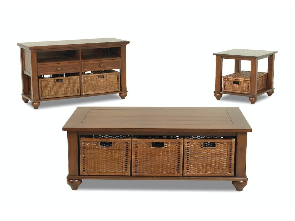 Klaussner International Living Room Treasures Brown Tables