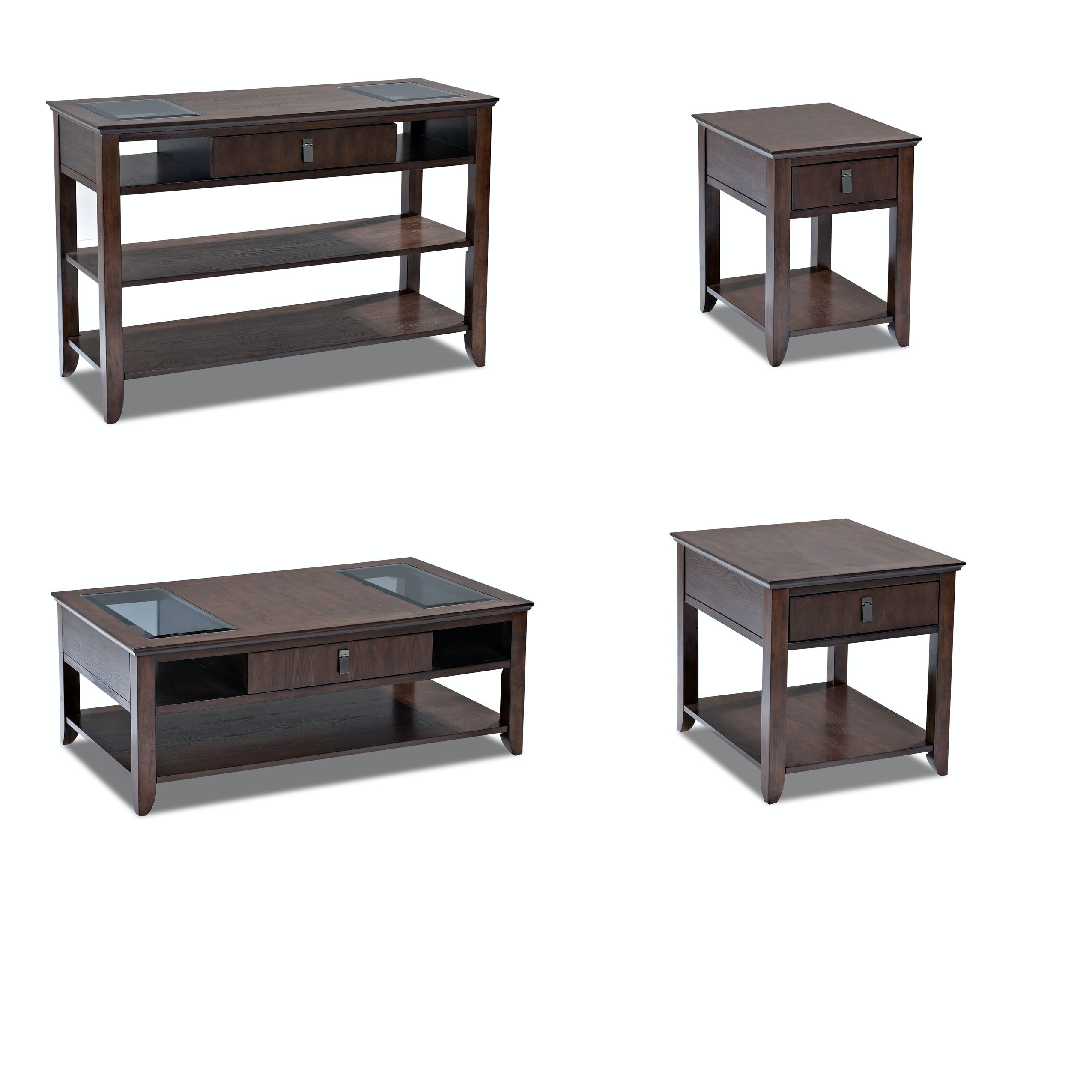 Klaussner International Living Room Park Row End Table 918