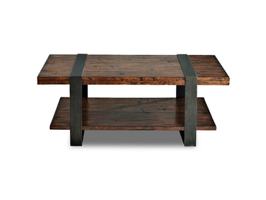 Klaussner International Living Room Timber Forge Cocktail Table