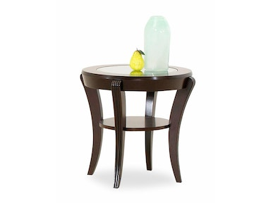 Klaussner International Living Room Bandero End Table