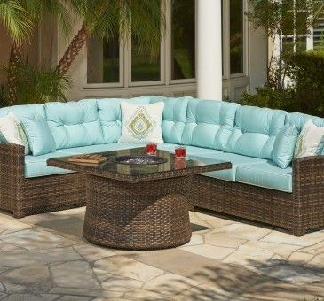 Good North Cape Outdoor/Patio Lakeside Sectional NC4302 Sectional   Bears  Furniture   Franklin, Cranberry And Meadville, PA
