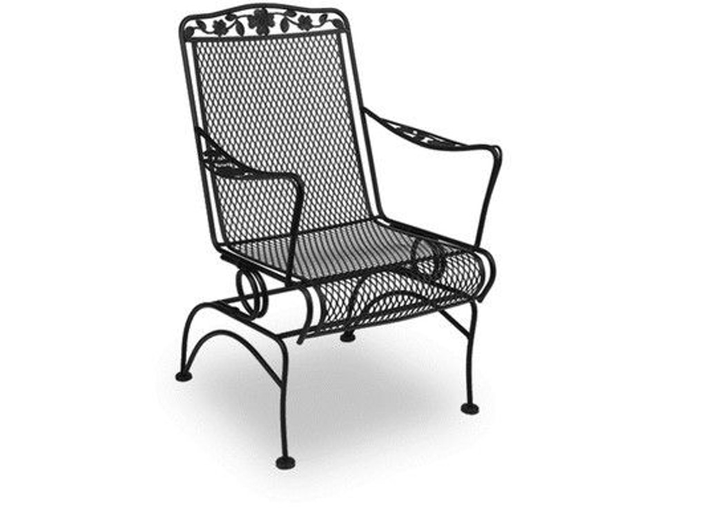 Meadowcraft Outdoor Patio Dogwood Coil Spring Chair 7617400 02 Shumake Furniture Decatur And