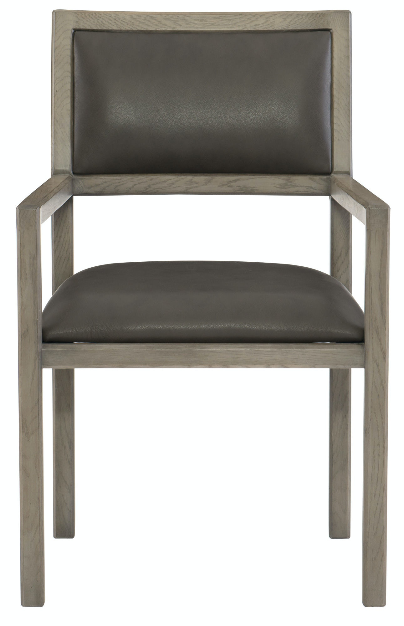 Bernhardt Interiors Dining Room Leather Arm Chair