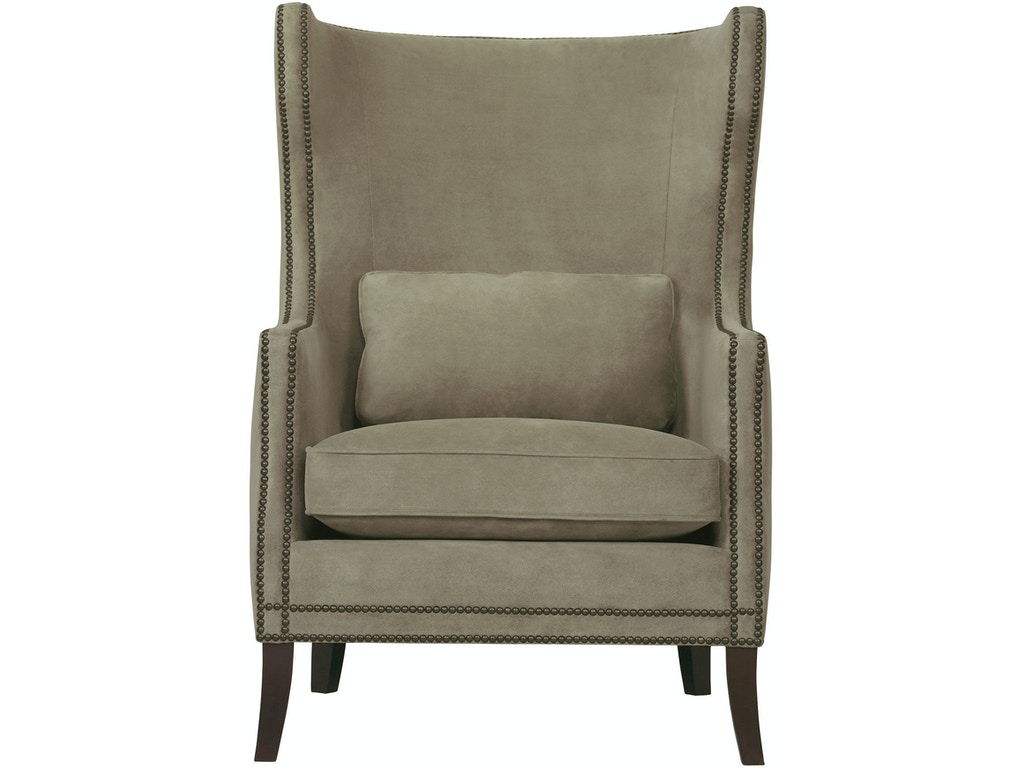 Bernhardt interiors living room wing chair n1712l tin for Wing chairs for living room