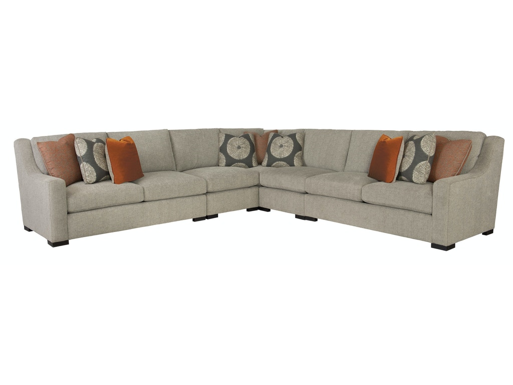 Bernhardt living room germain 4 piece sectional g69511 for 4 piece living room furniture