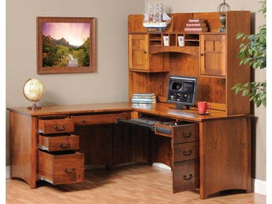 Y and T Woodcraft Rivertowne L-Desk - Desk Only 2080