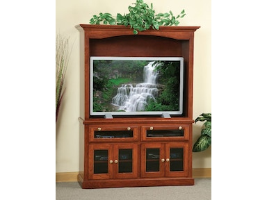 Y and T Woodcraft Heirwood 2 Piece Media Entertainment Center 339