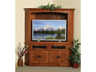 Y and T Woodcraft Heirwood 2 Piece Media Entertainment Center 367