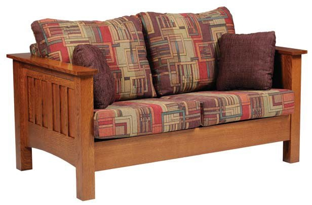 Y And T Woodcraft Living Room Mission Sofa 6400 - Kaplans