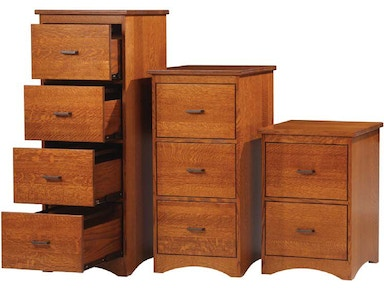 Y and T Woodcraft Prairie Mission 3-Drawer File Cabinet 693