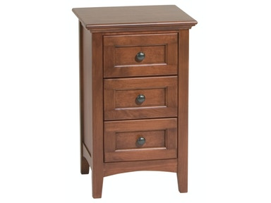 Whittier Wood Products GAC Small 3–Drawer McKenzie Nightstand 1100AFGAC