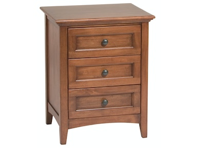 Whittier Wood Products GAC 3–Drawer McKenzie Nightstand 1101AFGAC