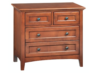 Whittier Wood Products GAC 4–Drawer McKenzie Nightstand 1113GAC
