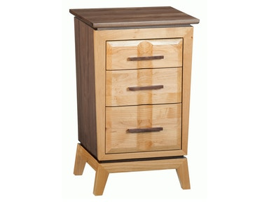 Whittier Wood Products DUET Small 3–Drawer Addison Nightstand 1115DUET