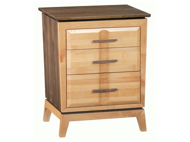 Whittier Wood Products DUET 3–Drawer Addison Nightstand 1116DUET