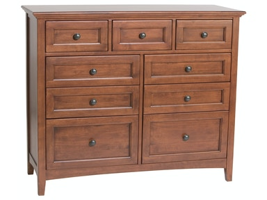 Whittier Wood Products GAC 9–Drawer McKenzie Dresser 1127AFGAC