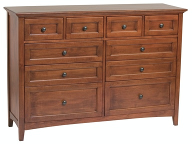 Whittier Wood Products GAC 10–Drawer McKenzie Dresser 1128AFGAC