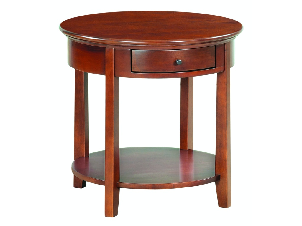 Whittier Wood Products Living Room Gac Mckenzie Round End Table 3510gac Callan Furniture St