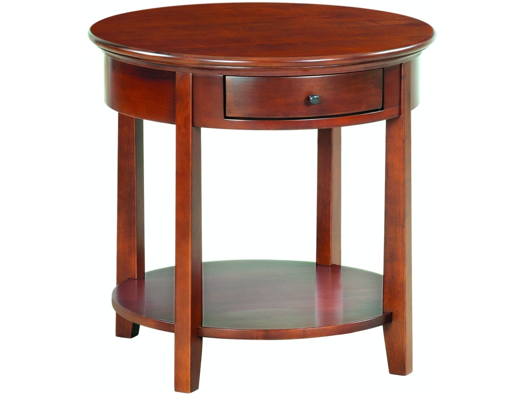 Whittier Wood Products Living Room Gac Mckenzie Round End Table 3510gac Fiore Furniture