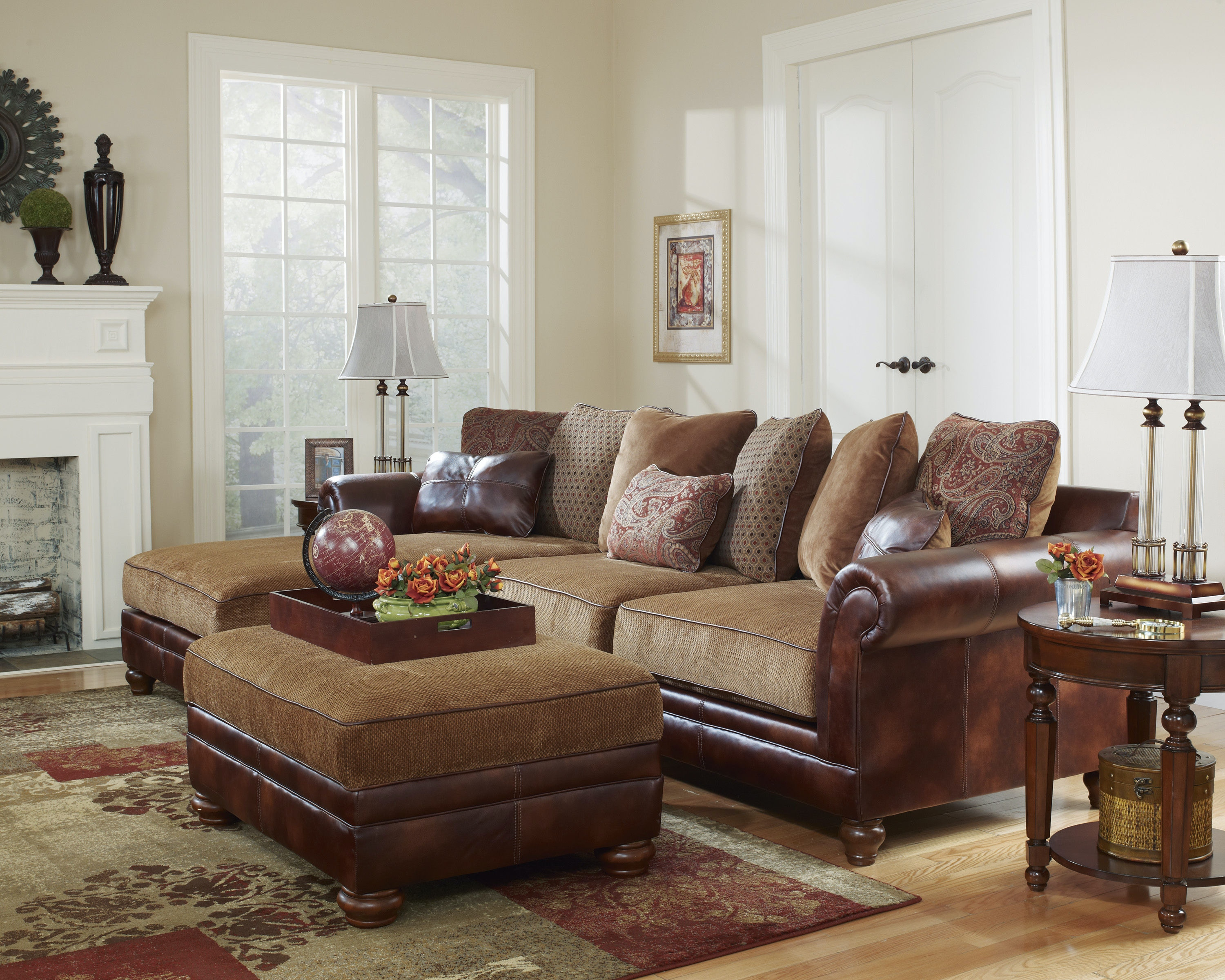 ashley furniture living room sectional 33100 - home decor