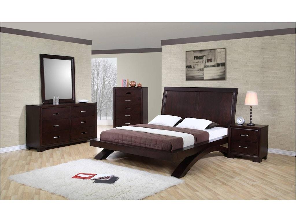 Elements international furniture rv100 queen bedroom set for International decor furniture