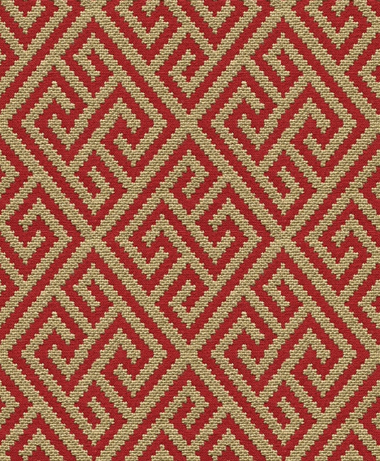 Brunschwig & Fils TAO FRETWORK LACQUER RED 8012111.2