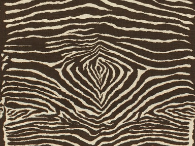 Brunschwig & Fils LE ZEBRE LINEN PRINT CHARCOAL BROWN AND WHITE BR-79168.08