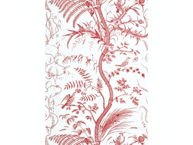 Brunschwig & Fils BIRD AND THISTLE RED BR-69518.166