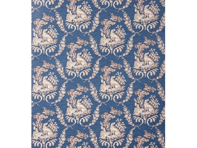 Brunschwig & Fils THE HUNTING TOILE OXFORD BLUE BR-69519.244