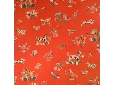 Brunschwig & Fils ANIMALITOS WOVEN TAPESTRY TOMATO BR-89477.150
