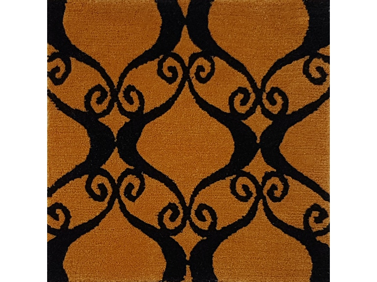 Brunschwig Carpet V6-9/Sp.Orange Black CB-101998.ORANGE BLACK.0