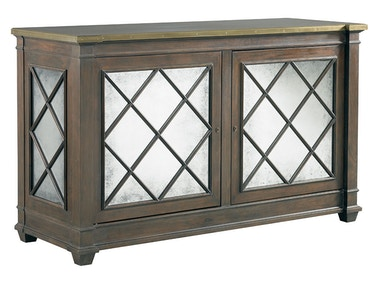 Lillian August for Hickory White Addison 2 Door Server - Brass Trim Top LA17052-01