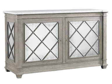 Lillian August for Hickory White Addison 2 Door Server - Brass Trim Top LA17053-01