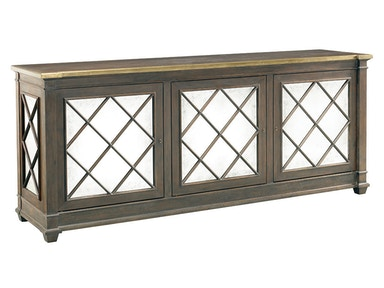 Lillian August for Hickory White Addison 3 Door Server - Brass Trim Top LA17055-01
