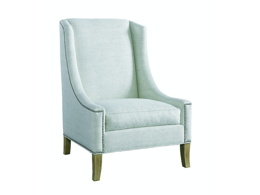 Lillian August For Hickory White Living Room Fenwick Chair LA4107C Noel Fur