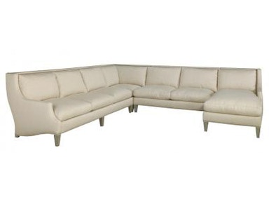 Lillian August for Hickory White Nelson Sectional LA7114 Sectional