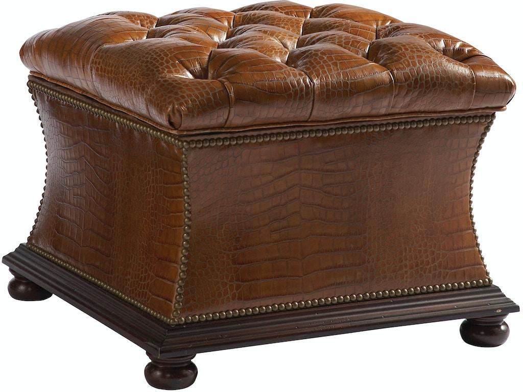 Lillian August For Hickory White Living Room Trevor Storage Ottoman Ll8007ot Saxon Clark