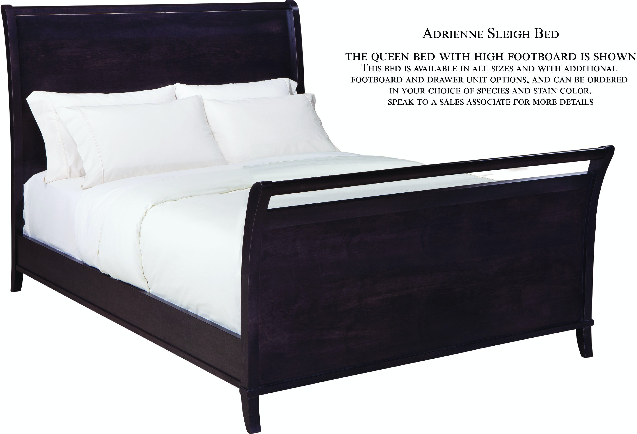 Palettes By Winesburg Bedroom Sleigh Bed With Right Side